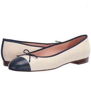 J. Crew Uptown cap toe ballet flats 8.5